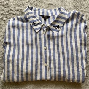 Ambiance   Wink Loose Button Down Dress Shirt NWT